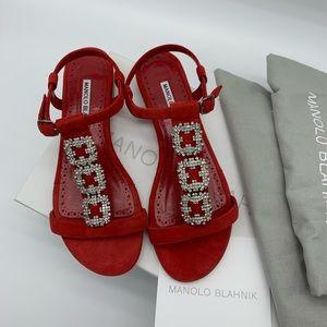 NEW Manolo blahnik crystals Ottolamod sandals